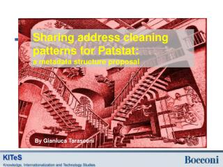 Sharing address cleaning patterns for Patstat :  a  metadata structure proposal