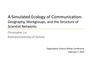 Christopher Liu Rotman /University of Toronto
