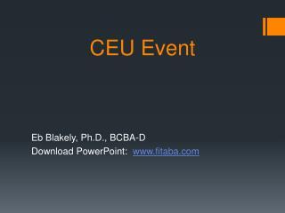 CEU Event