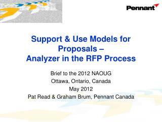 Support & Use Models for Proposals –  Analyzer  in the RFP Process
