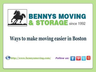 Ways to make moving easier in Boston