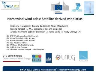 Norsewind  wind atlas: Satellite derived wind atlas