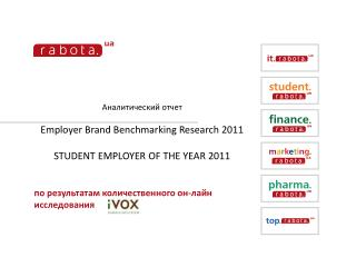 Аналитический отчет Employer Brand Benchmarking Research  201 1 STUDENT EMPLOYER OF THE YEAR 2011