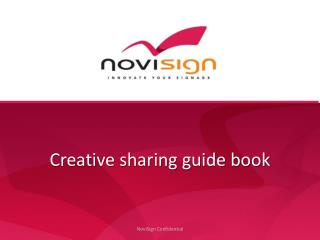 Creative sharing guide book