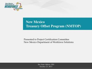 New Mexico Treasury Offset Program (NMTOP)