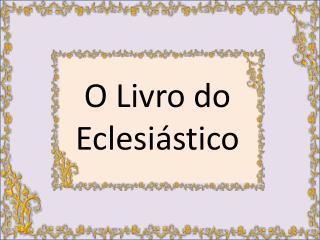 O Livro do Eclesiástico