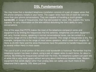 DSL Fundamentals
