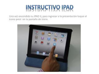 Instructivo  Ipad