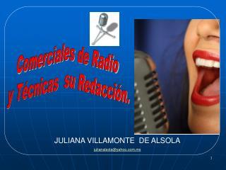 Comerciales  de Radio  y Técnicas  su Redacción.