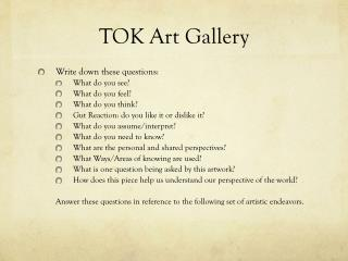 TOK Art Gallery