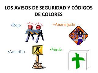 LOS AVISOS DE SEGURIDAD Y CÓDIGOS DE COLORES