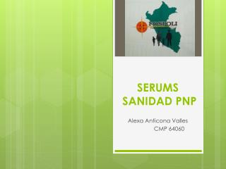 SERUMS   SANIDAD PNP