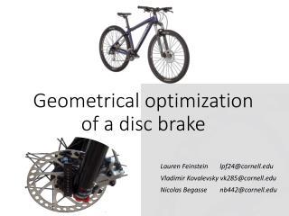 Geometrical optimization of a disc brake