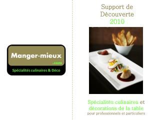 Support de Découverte  2010
