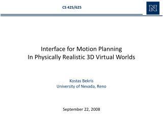 Kostas  Bekris University of Nevada, Reno
