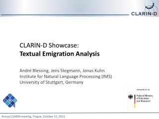 CLARIN-D Showcase:  Textual Emigration Analysis