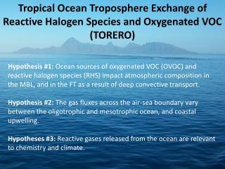 Tropical Ocean Troposphere Exchange of Reactive Halogen Species and Oxygenated VOC (TORERO)