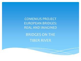 COMENIUS PROJECT  EUROPEAN BRIDGES: REAL AND IMAGINED