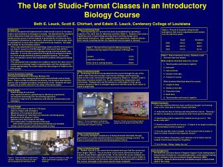 The Use of Studio-Format Classes in an Introductory Biology Course Beth E. Leuck, Scott E. Chirhart, and Edwin E. Leuck,