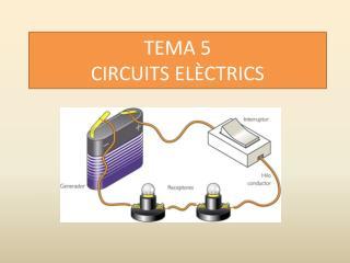 TEMA 5 CIRCUITS ELÈCTRICS