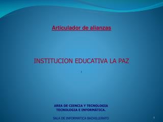 INSTITUCION EDUCATIVA LA PAZ I