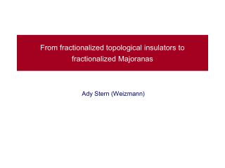 From fractionalized topological insulators to fractionalized  Majoranas