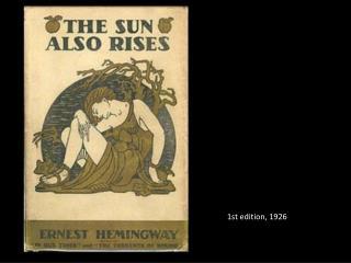 1st edition, 1926