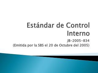 Estándar de Control Interno