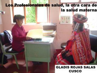 Los Profesionales de salud, la otra cara de la salud materna