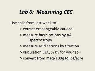 Lab 6:  Measuring CEC