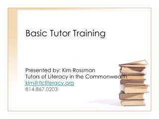 Basic Tutor Training