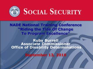 "NADE National Training Conference ""Riding the Tide Of Change  To Program Excellence"" Ruby Burrell"