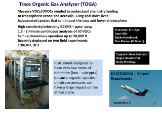 Trace Organic Gas Analyzer (TOGA)