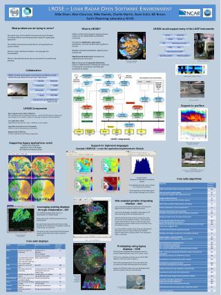 LROSE � Lidar Radar Open Software Environment