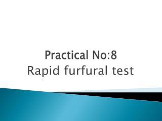 Practical No:8