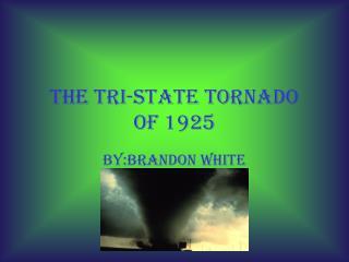 The tri-state tornado of 1925