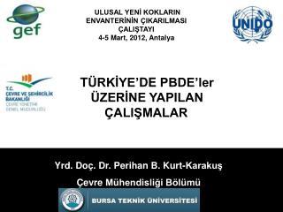 Yrd. Doç. Dr. Perihan B. Kurt-Karakuş Çevre  Mühendisliği Bölümü
