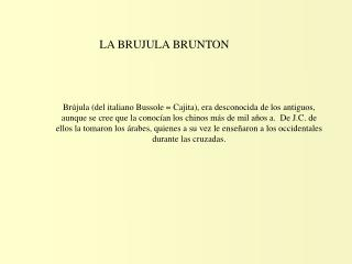 LA BRUJULA BRUNTON