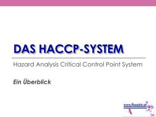 Das HACCP-system