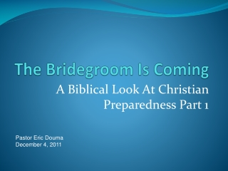 A Bride for Isaac  A Bride for Christ
