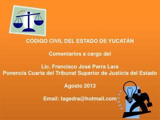 TITULO SEGUNDO DEL ESTADO  CIVIL- (ART. 27) AL ART. 585 DEROGADOS