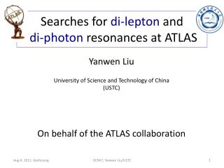 Searches for  di-lepton  and di-photon  resonances at ATLAS