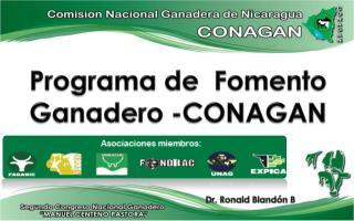 Programa  de   Fomento  Ganadero -CONAGAN