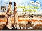 Song of Songs - Canticles
