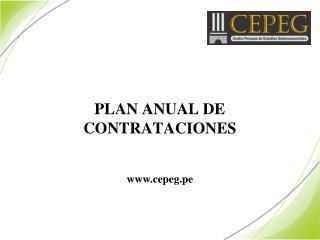 PLAN ANUAL DE CONTRATACIONES