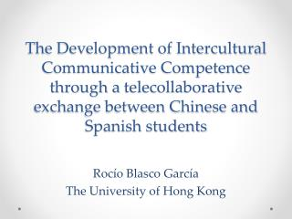 Rocío Blasco García The University of Hong Kong