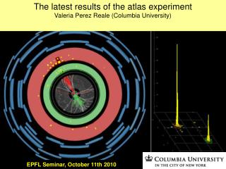 The latest results of the atlas experiment Valeria Perez Reale (Columbia University)