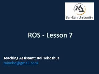 ROS - Lesson 7
