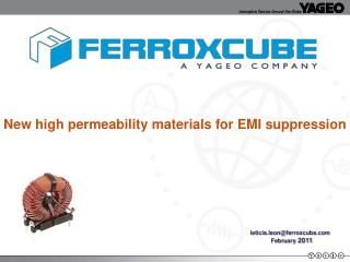 New high permeability materials for EMI suppression