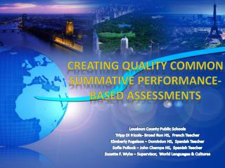 Creating Quality Common Summative Performance-Based Assessments